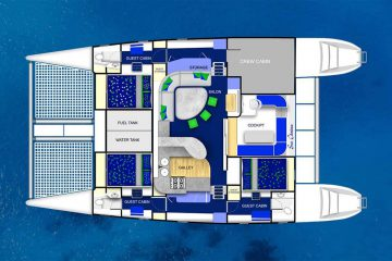 Yacht floor plan